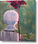 Post And The Rose Metal Print