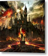 Post Apocalyptic Disneyland Metal Print