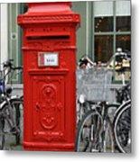 Post Box In Bruge Metal Print