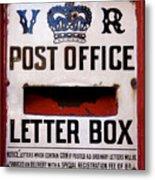 Post Box Metal Print