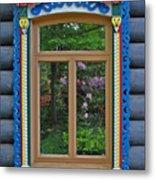 Post Dacha Window Metal Print