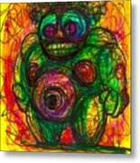 Post Modern Venus Of Willendorf  She's Mad As Hell Guys  Rightfully So Metal Print