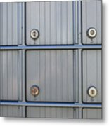 Post Office Boxes Metal Print