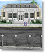 Post Office In Thermopolis Metal Print