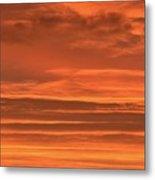 Post Sunset Clouds Metal Print
