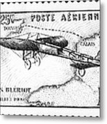 Postage Stamp: Bleriot Metal Print