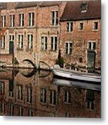 Postcard Canal II Metal Print