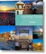 Postcard From Alassio Metal Print