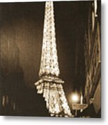 Postcard From Paris- Art By Linda Woods Metal Print