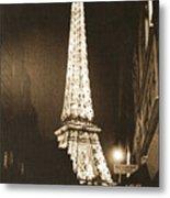 Postcard From Paris- Art By Linda Woods Metal Print