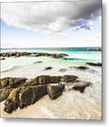 Postcard Perfect Ocean Background Metal Print