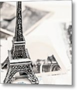 Postcards And Letters From Paris Metal Print