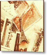 Postcards And Letters From The City Of Love Metal Print