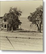 Barbed Wire - No Trespassing Metal Print