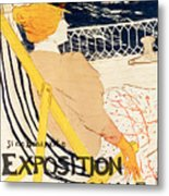 Poster Advertising The Exposition Internationale Daffiches Paris Metal Print