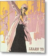 Poster Depicting Women Making Munitions  Metal Print by English School