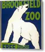 Poster For The Brookfield Zoo Metal Print