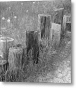 Posts In A Row Metal Print