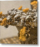 Pot Flowers  Metal Print