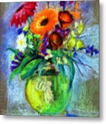 Pot Of Flowers Metal Print