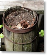 Pot Waiting For New Plant Metal Print