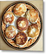 Potato Cutlets With Chicken Filling Metal Print
