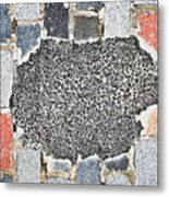 Pothole Repair Metal Print