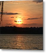 Potomac River Sunset In March Metal Print