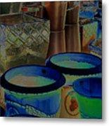 Pots Metal Print