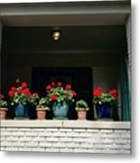 Pots In The Window Metal Print