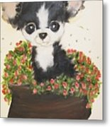 Potted Pup Metal Print