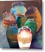 Pottery Jars Metal Print