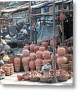 Pottery Shop In India Metal Print