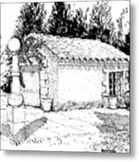 Potting Shed At Le Coin Retro In Le Thor France Metal Print