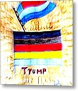 Potus For All Black Brown, Red, Yellow, White Metal Print