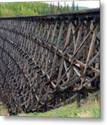 Pouce Coupe Train Wooden Trestle Metal Print