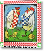 Poultry In Motion Poster Metal Print
