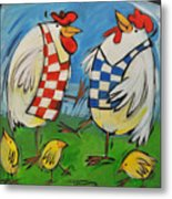 Poultry In Motion Metal Print