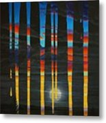 Poured Sunset On A Moonlit Night Metal Print