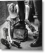 Poverty In The Streets Of Paraguay Metal Print