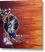 Pow-wow Dancer Metal Print