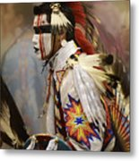 Pow Wow First Nation Dancer Metal Print