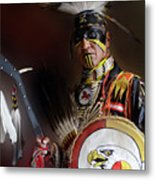 Pow Wow Portrait Of A Proud Man 2 Metal Print