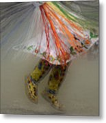 Pow Wow Shawl Dancer 4 Metal Print