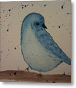 Powder Blue Metal Print by Ginny Youngblood