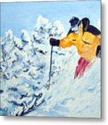 Powder Run Metal Print