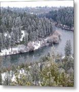 Powdered Spokane River Metal Print