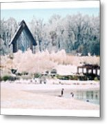 Powell Gardens Chapel Metal Print