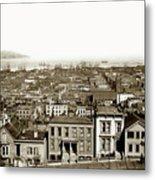 Powell Street Between Sacramento And California San Francisco Circa 1866 Metal Print