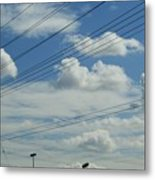 Power Clouds Metal Print